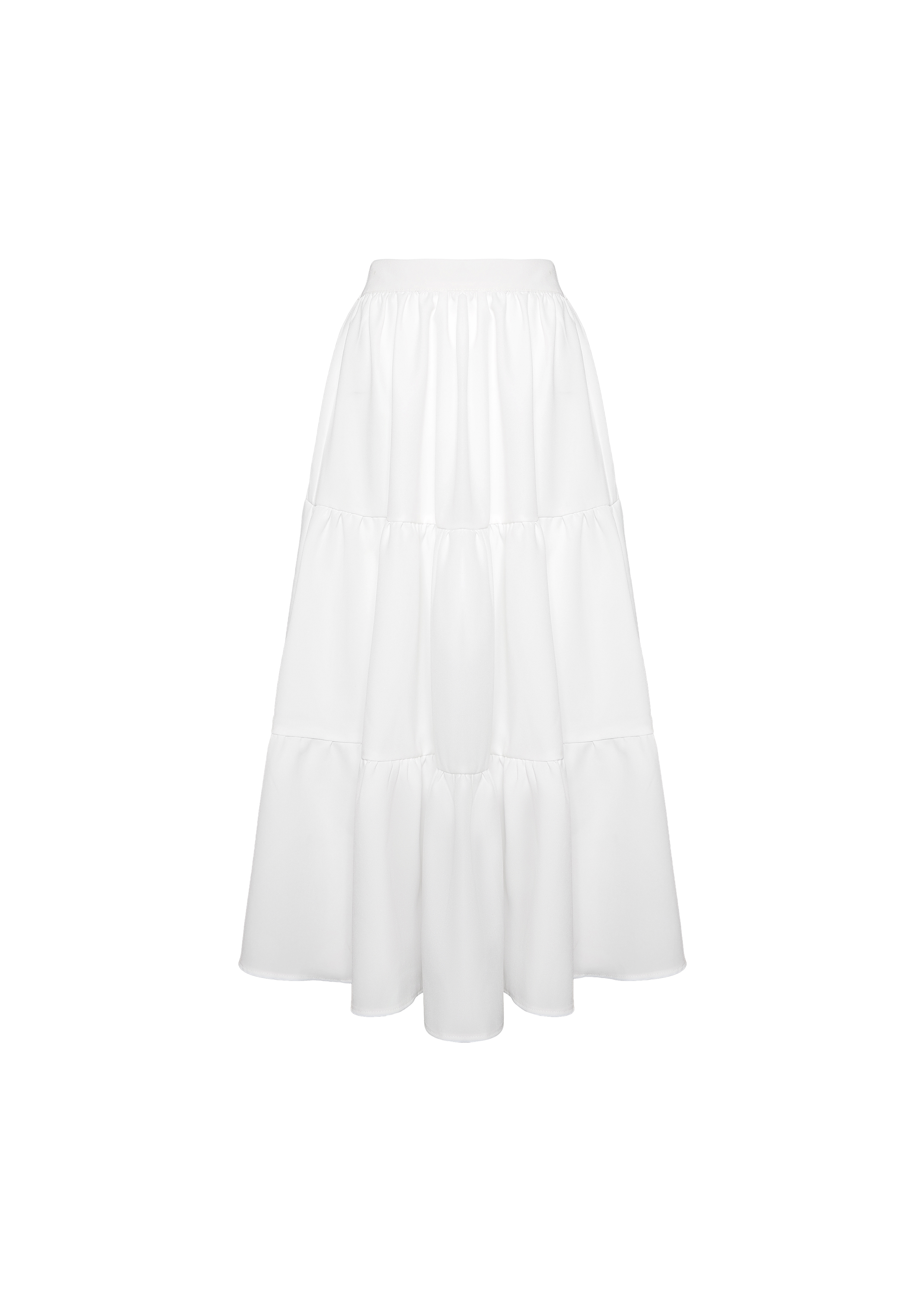 LONG RUFFLE SKIRT